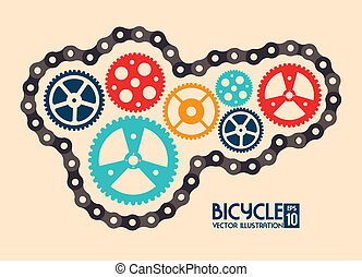 cycling design - cycling design over pink background vector...