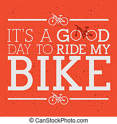 cycling design - cycling design over red background vector...