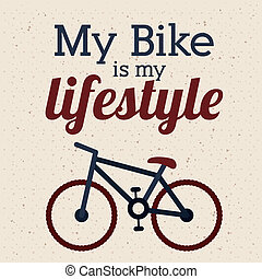 cycling design - cycling design over white background vector...