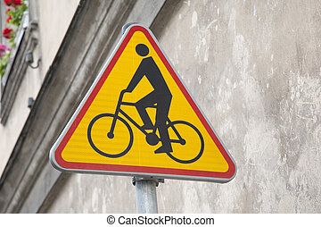 cycling, geel teken