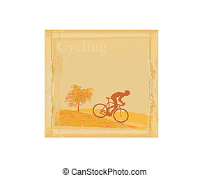 Cycling Grunge Poster