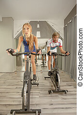 Cycling Gym Sexy Woman Man