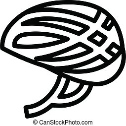 Cycling helmet icon. Outline Cycling helmet vector icon for web design isolated on white background