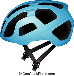 Cycling helmet on a white background.