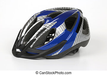 Cycling helmet on a white background