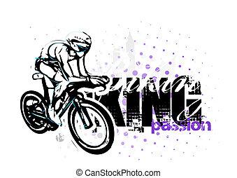 cycling illustration