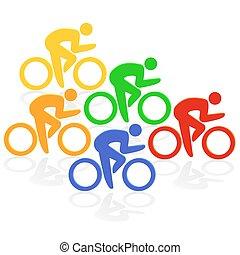 cycling, kleurrijke