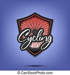 Cycling logo design template