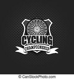 Cycling logo template design
