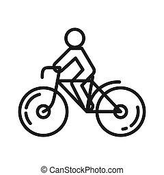 cycling, ontwerp, illustratie, activiteit