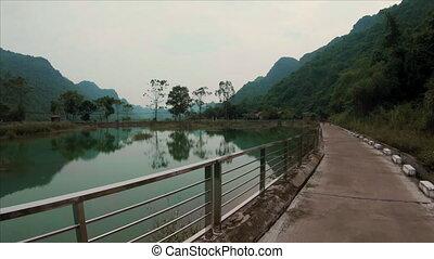 Cycling over Cat Ba Island in Ha Long Bay, Northern Vietnam