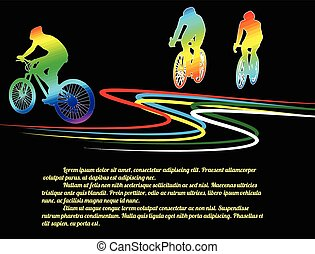 Cycling poster background