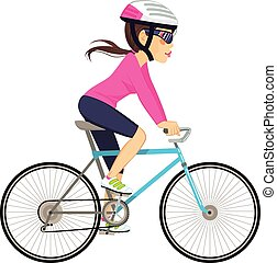 Cycling Professional Woman - Young professional cyclist...