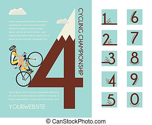 Cycling race poster design.