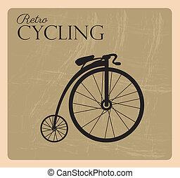 cycling, retro