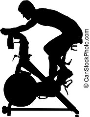 Cycling Spinning Silhouette