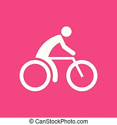 Cycling Sport Figure Symbol Vector Illustration Graphic