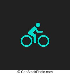 cycling, straat, pictogram