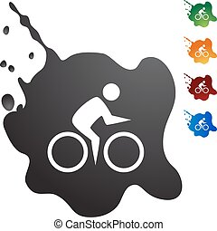 Cycling Swimmer web button isolated on a background