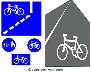 cycling, tekens & borden