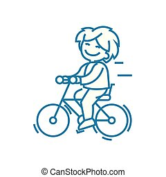 Cycling trips linear icon concept. Cycling trips line vector sign, symbol, illustration.