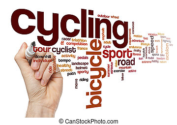 Cycling word cloud concept