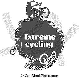 cyclisme, bmx, conception, extrême