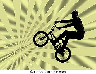 cyclisme, bmx vélo, vélo, motard