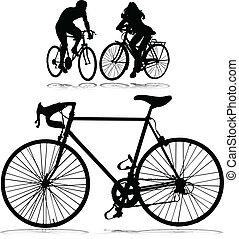 cyclisme femme, homme