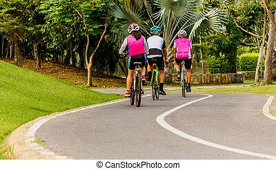 cyclisme, parc
