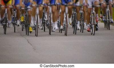 cyclisme, -, race., devant, hd, vue