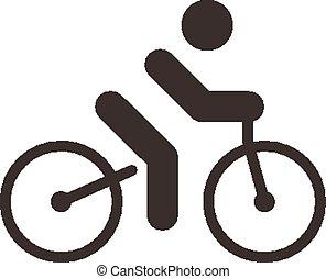 cyclisme, route, icône