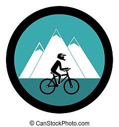cyclisme, sport, emblème, icône