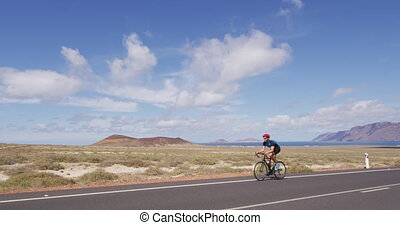 cyclisme, vélo, faire vélo, homme, -, cycliste, course, ...