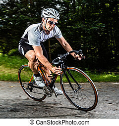 cyclist in a curve