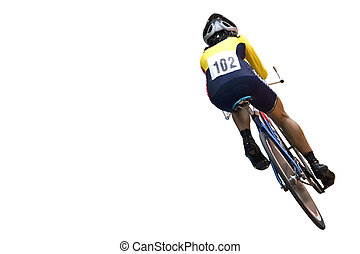 Cyclist - Isolated image of a competitive cyclist.