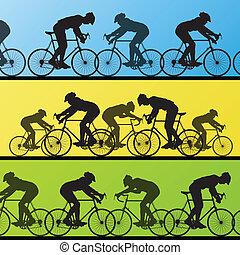 Cyclist leader winner background vector