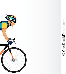 cyclist male on a white background.  vector illustration.