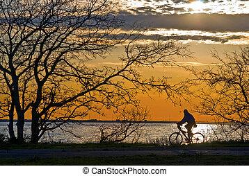 Cyclist Sandy Hook