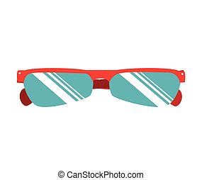 cyclist sunglasses wear icon vector illustration