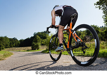cyclist - triathlete in cycling