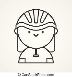 cyclist vector icon sign symbol