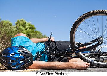 cycliste, accident route, mensonge, après