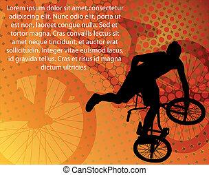 cycliste, acrobatie