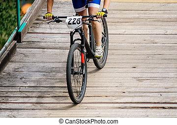 cycliste, athlète, femme