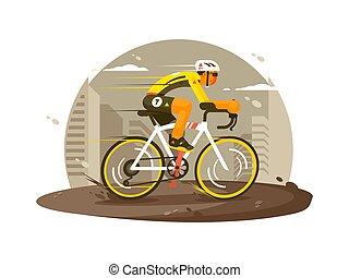 cycliste, athlète, sport