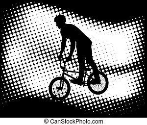 cycliste, bmx