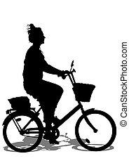 cycliste, girl