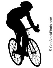 cycliste, homme celui