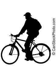cycliste, homme
